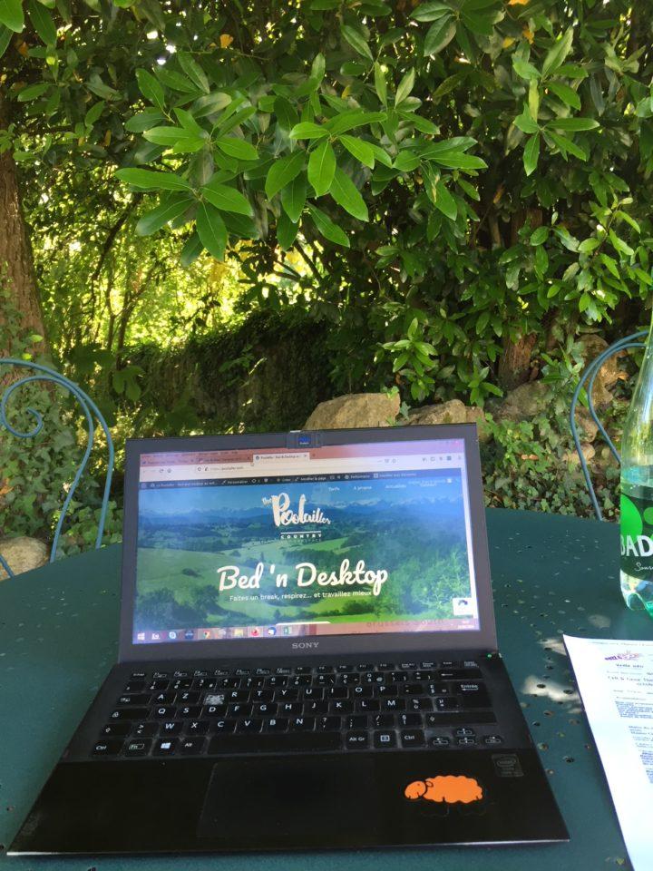 Recevoir ses clients et fournisseurs, au vert, face à la chaine des Pyrénées, la classe !